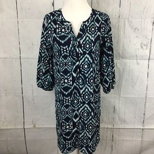 Everly Printed 3/4 Sleeve Above Knee Dress Small